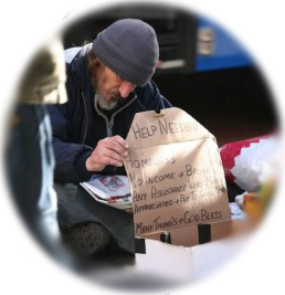 End homelessness for this man and others through inner change leading to outer transformation